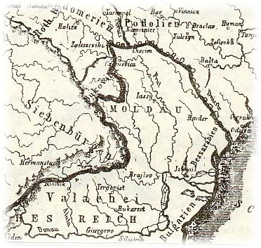 The map of 1795 year ROMANIA MOLDOVA BESSARABIA PRIDNESTROVIE