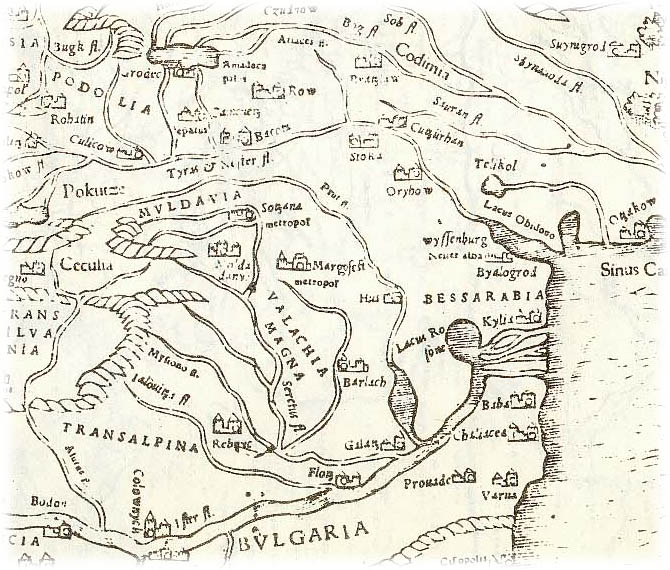 The map of 1540 year ROMANIA MOLDOVA BESSARABIA PRIDNESTROVIE